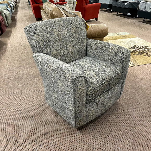 Kaylee Slate Swivel Barrel Arm Chair