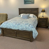 Weathered Queen Panel Bed