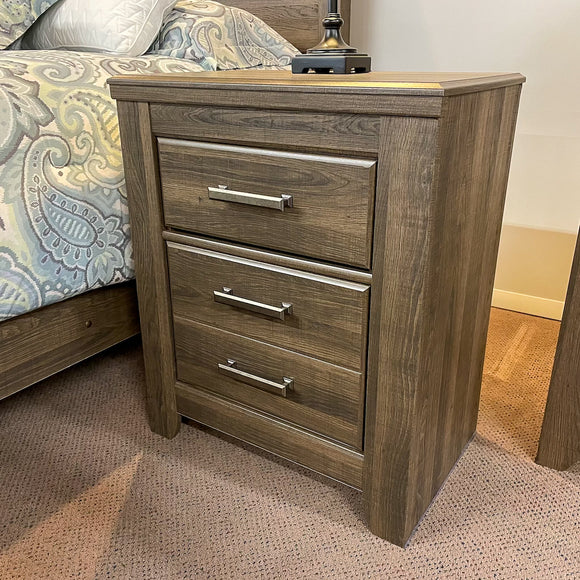 Weathered Two Drawer Night Stand