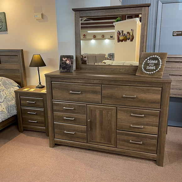 Weathered Dresser & Mirror