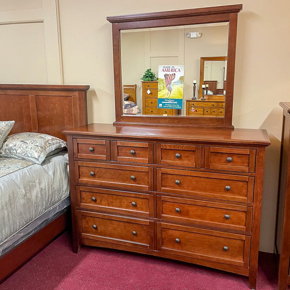 Moe Cherry Triple Dresser & Mirror