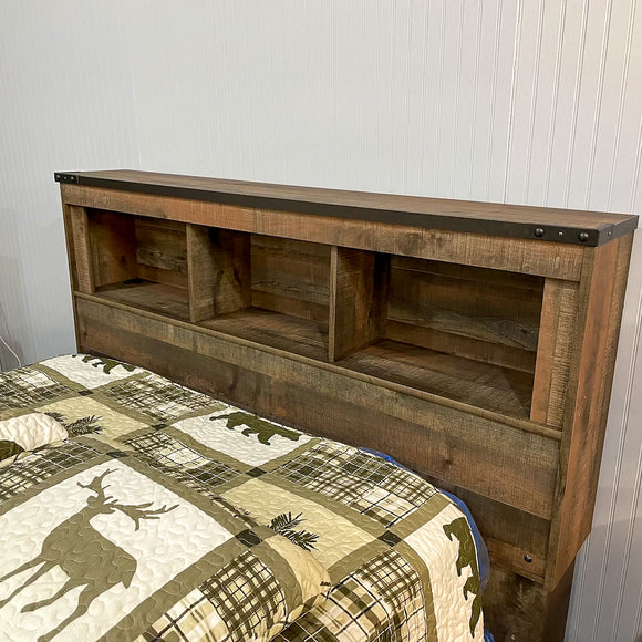 Greystone Full Bookcase Headboard