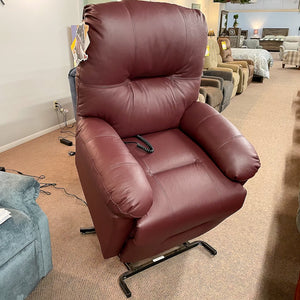 Zaynah Burgundy Leather Lift Chair