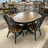 Black Chenille Table & 4 Chairs