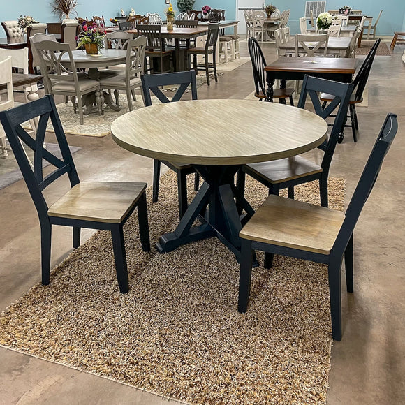 Lakeshore Pedestal Table & 4 Chairs