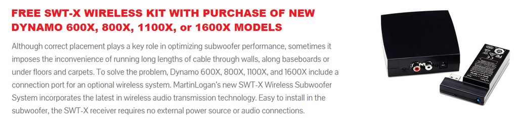 Free SWT-X Wireless Subwoofer Kit