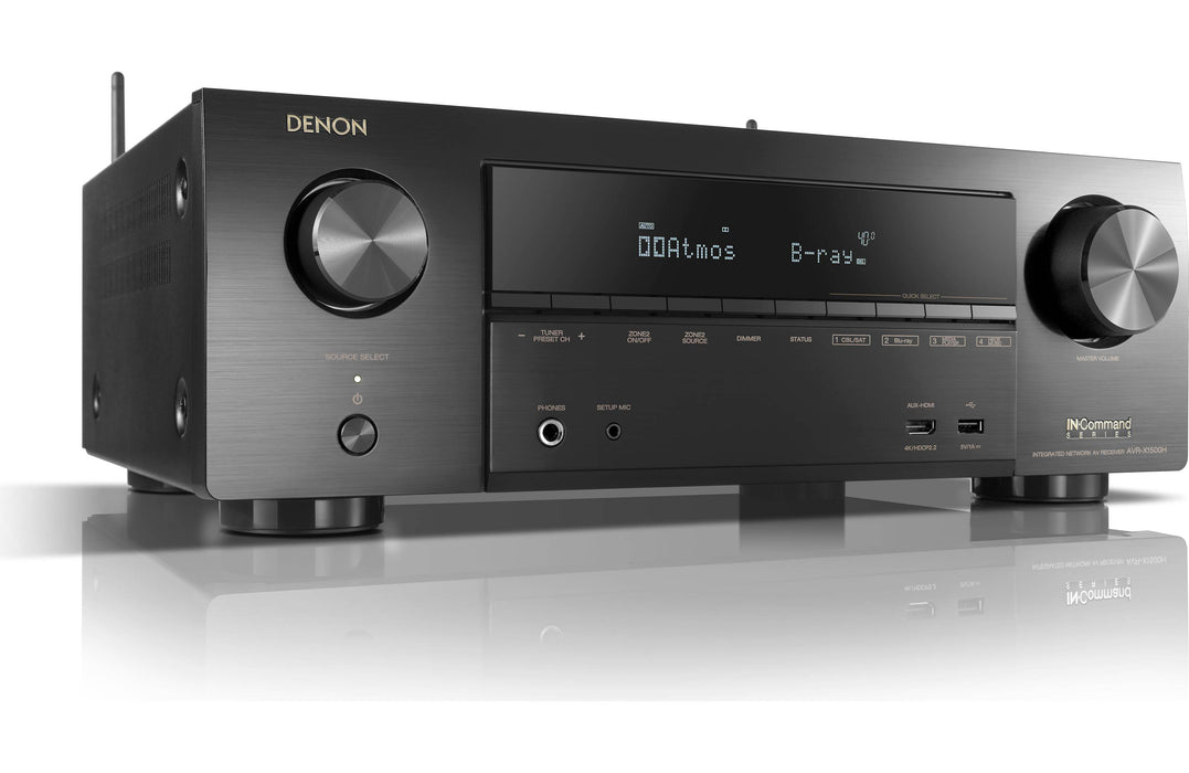 Denon AVR-X1500H 7.2 Channel AV Receiver with Amazon Alexa Voice Control - Safe and Sound HQ