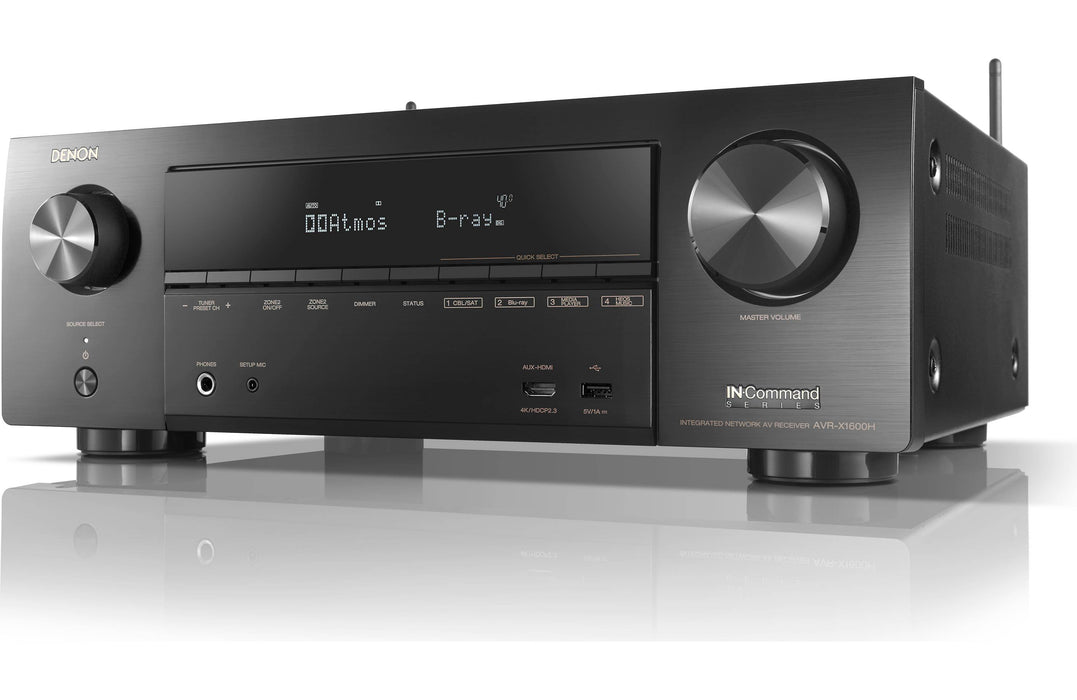 Denon AVR-X1600H 7.2 Channel 4K Ultra HD AV Receiver with 3D Audio and HEOS - Safe and Sound HQ