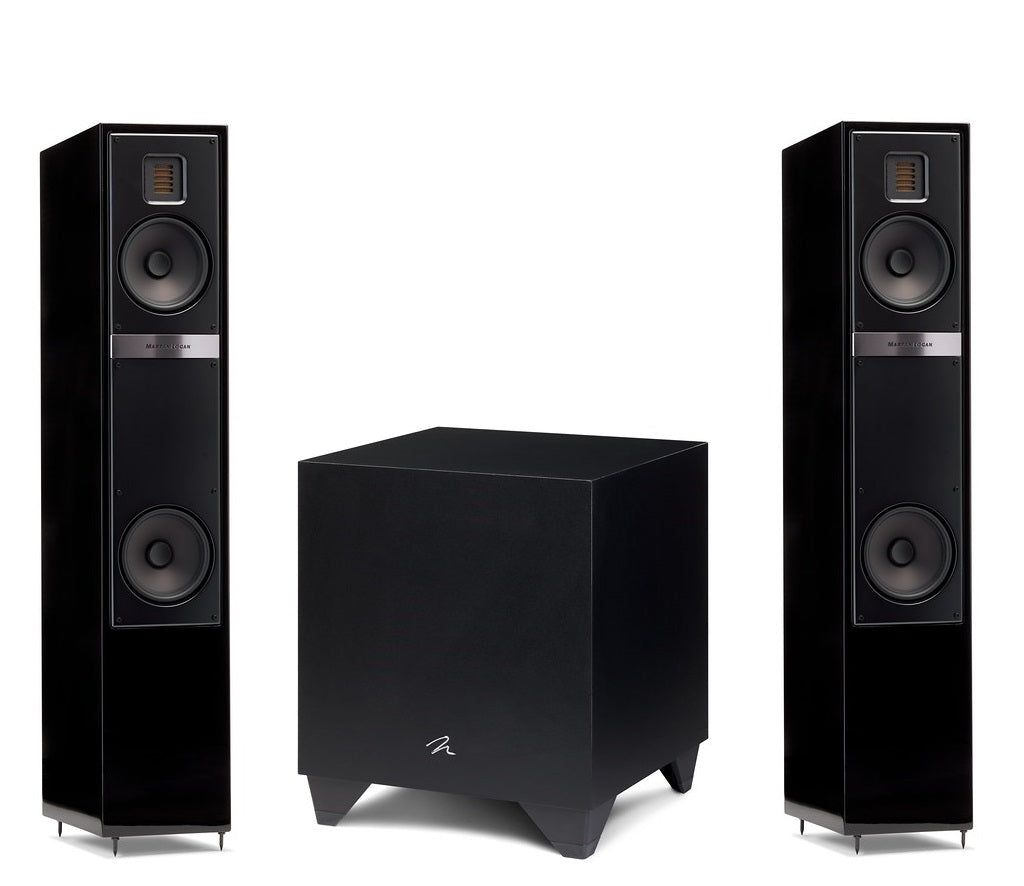 "Martin Logan Motion 20i Floorstanding Speakers Pair and Dynamo 400 Powered 8"" Subwoofer Bundle - Safe and Sound HQ"