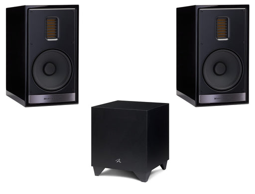 "Martin Logan Motion 35XTi Bookshelf Speakers Pair and Dynamo 400 8"" Powered Subwoofer Bundle - Safe and Sound HQ"