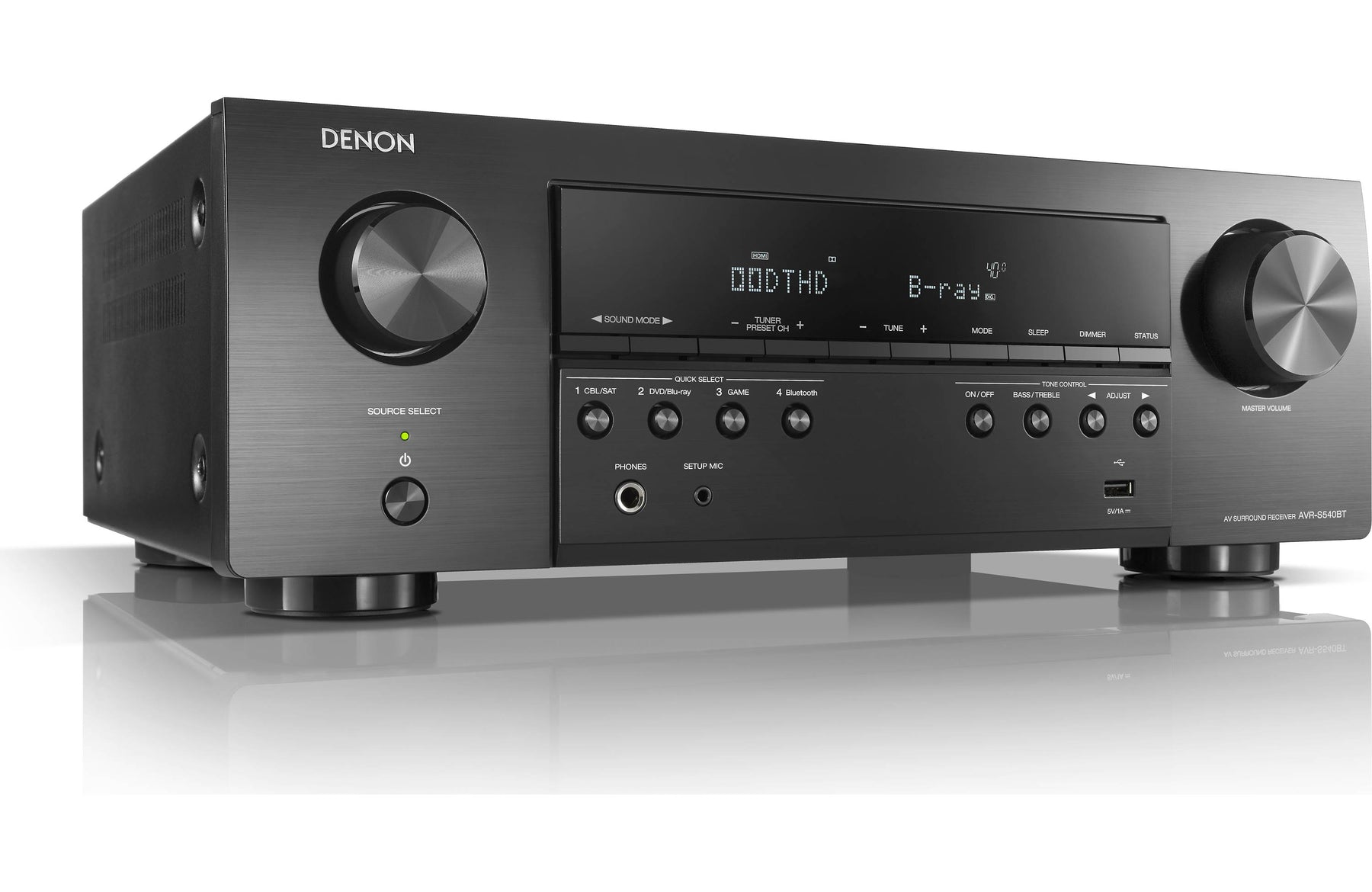 Denon AVR-S540BT 5.1 Channel 4K Ultra HD AV Receiver with Bluetooth and Dolby Vision - Safe and Sound HQ