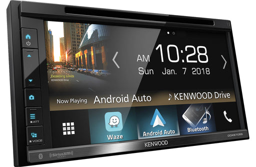 "Kenwood DDX6705S 6.8"" DVD Receiver with Bluetooth - Safe and Sound HQ"