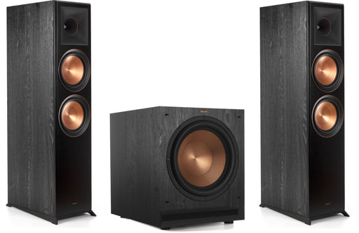 "Klipsch RP-8000F Reference Premiere Floorstanding Speakers Pair and Klipsch SPL-120 12"" Powered Subwoofer Bundle - Safe and Sound HQ"