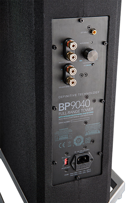 Definitive Technology BP9040 High-performance Bipolar Tower Speaker with Integrated 8 inch Powered Subwoofer (Each) - Safe and Sound HQ