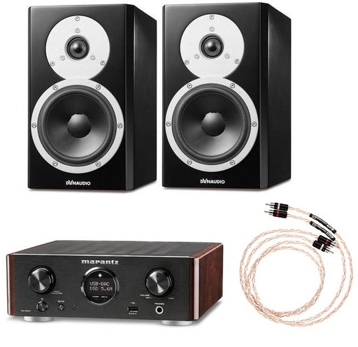 Dynaudio Excite X14A Powered Bookshelf Pair and Marantz HD-DAC1 Amplifier Bundle - Safe and Sound HQ