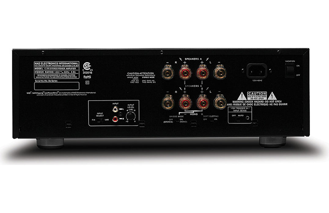NAD Electronics C 275BEE Stereo Power Amplifier - Safe and Sound HQ