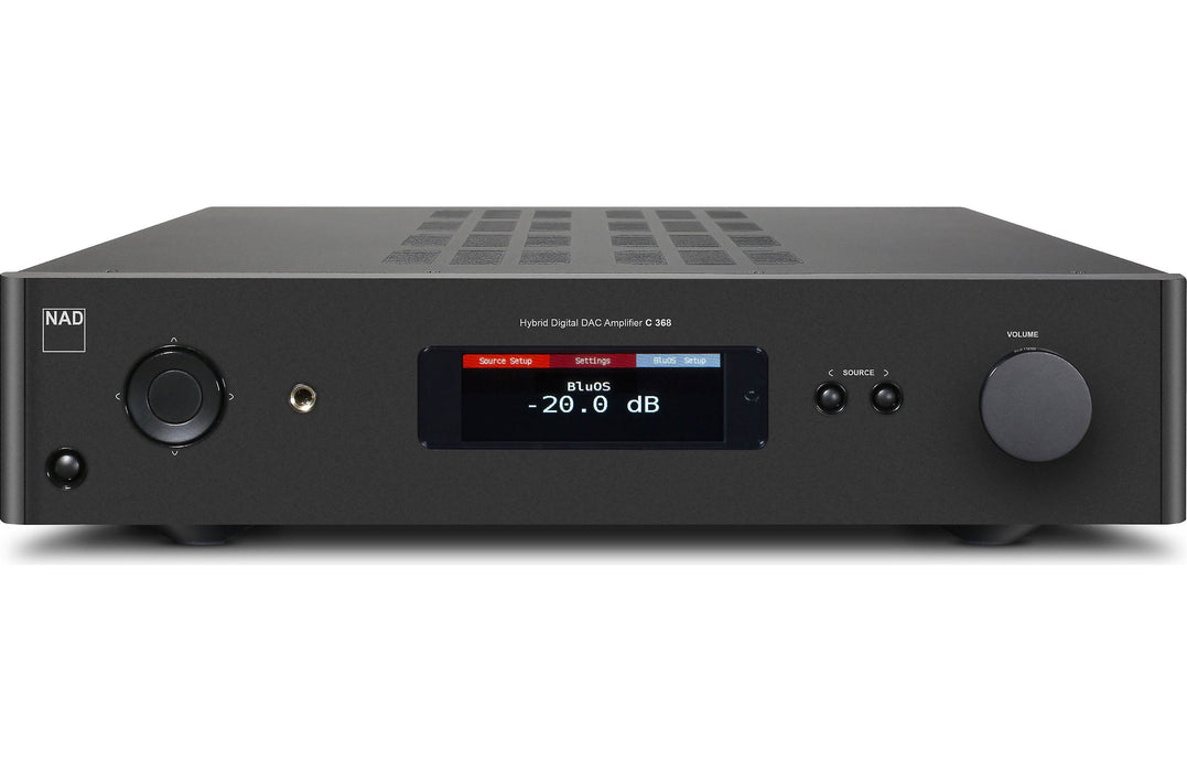NAD Electronics C 368 BluOS Hybrid Digital DAC Amplifier Factory Refurbished - Safe and Sound HQ