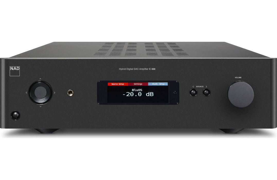 NAD Electronics C 388 BluOS Hybrid Digital DAC Amplifier Factory Refurbished - Safe and Sound HQ