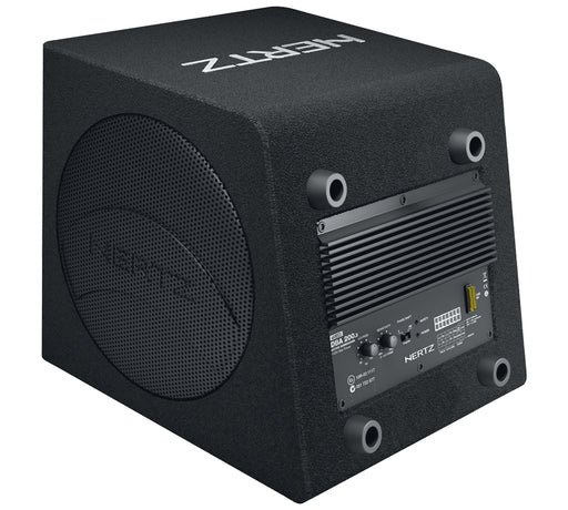 "Hertz DBA 200.3 Dieci Series 8"" Subwoofer and 2 Passive Radiators Active 140 Watt Sub Box - Safe and Sound HQ"