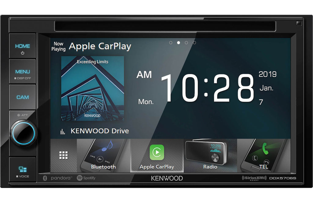 "Kenwood DDX5706S 6.2"" DVD Multimedia Double Din Receiver - Safe and Sound HQ"