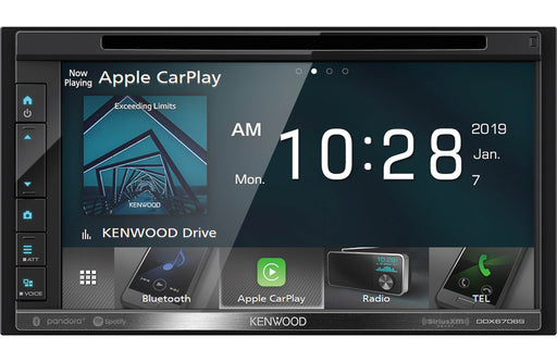 "Kenwood DDX6706S 6.8"" DVD Receiver with Bluetooth - Safe and Sound HQ"
