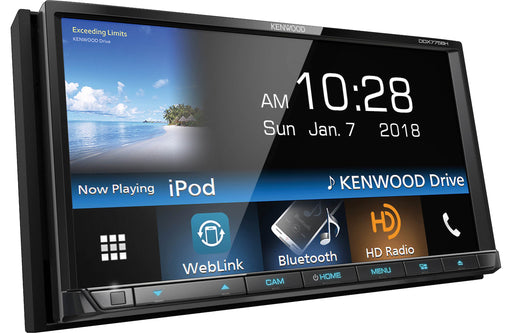 "Kenwood DDX775BH 7"" DVD Receiver with Bluetooth - Safe and Sound HQ"