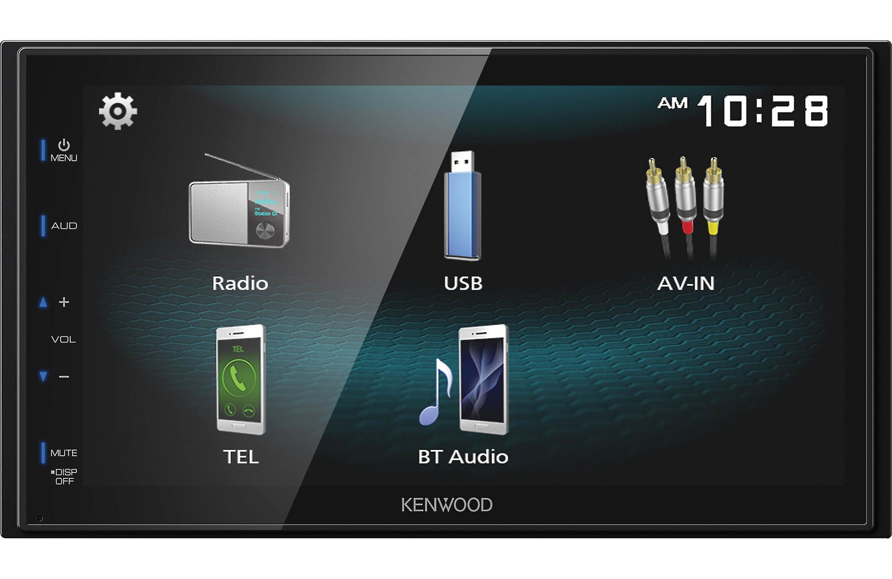 Kenwood DMX125BT Digital Multimedia Receiver with Bluetooth - Safe and Sound HQ