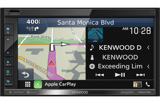 "Kenwood Excelon DNR476S 6.8"" Digital Multimedia Navigation Receiver with Bluetooth - Safe and Sound HQ"