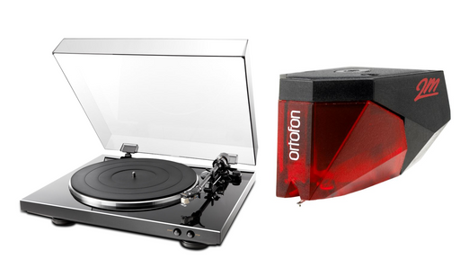 Denon DP-300F Turntable with Ortofon 2M Red Phono Cartridge Bundle - Safe and Sound HQ