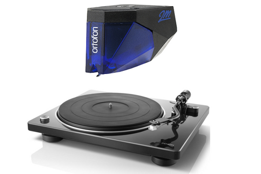 Denon DP-400 Turntable with Ortofon 2M Blue Phono Cartridge Bundle - Safe and Sound HQ