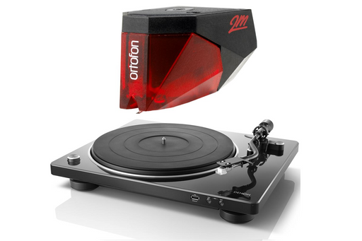 Denon DP-450USB Turntable with Ortofon 2M Red Phono Cartridge Bundle - Safe and Sound HQ