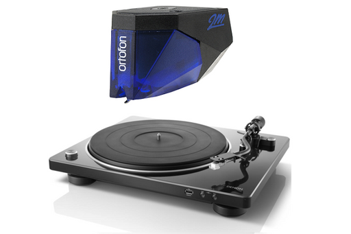 Denon DP-450USB Turntable with Ortofon 2M Blue Phono Cartridge Bundle - Safe and Sound HQ