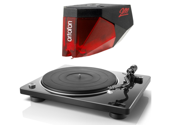 Denon DP-400 Turntable with Ortofon 2M Red Phono Cartridge Bundle - Safe and Sound HQ