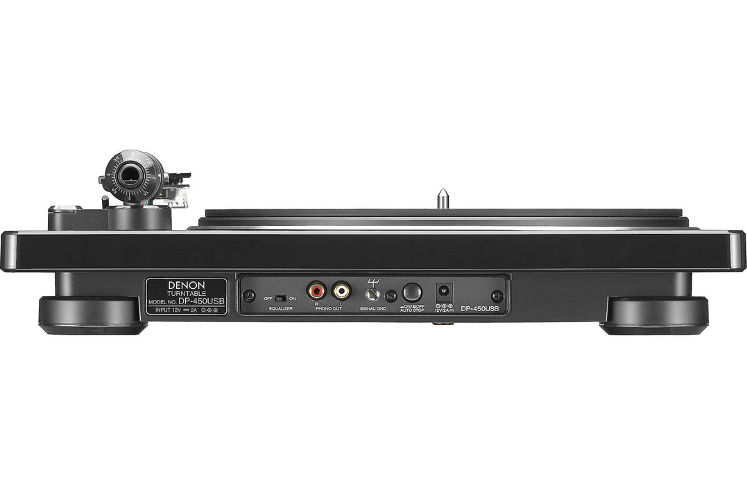 Denon DP-450USB Turntable with Ortofon 2M Black Phono Cartridge Bundle - Safe and Sound HQ