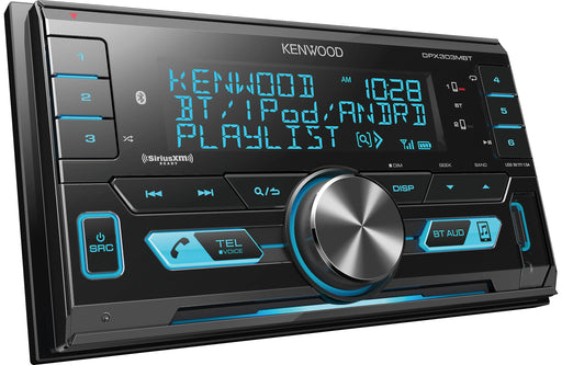 Kenwood DPX303MBT Double-Din Digital Media Receiver with Bluetooth - Safe and Sound HQ