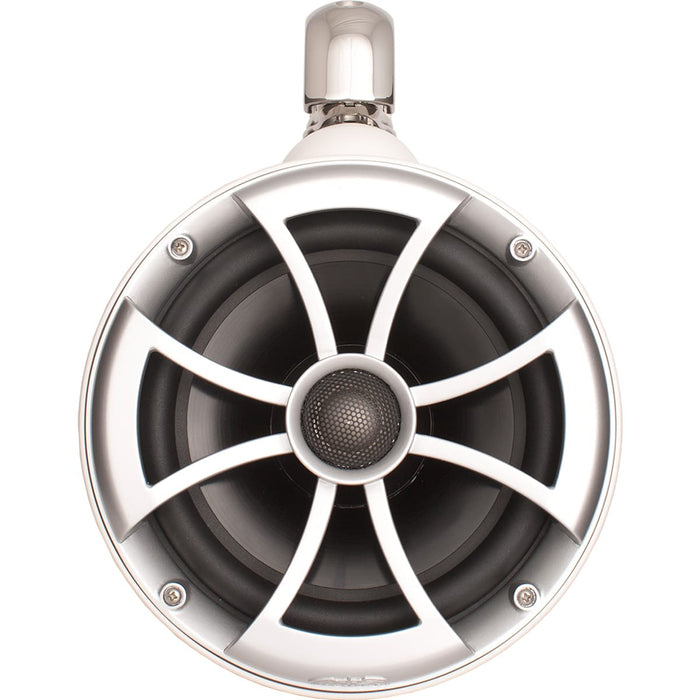 "Wet Sounds ICON 8-W SC V2 ICON Series 8"" White Tower Speaker with TC3 Swivel Clamps (Pair) - Safe and Sound HQ"
