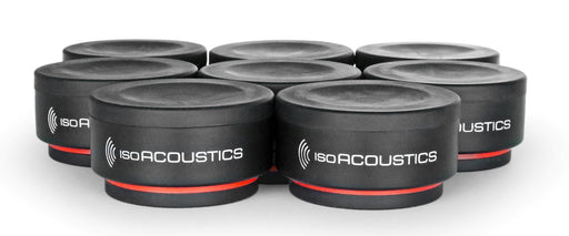Isoacoustics ISO-PUCK Mini Vibration Isolators for Studio Monitors and Amplifiers (8-Pack) - Safe and Sound HQ