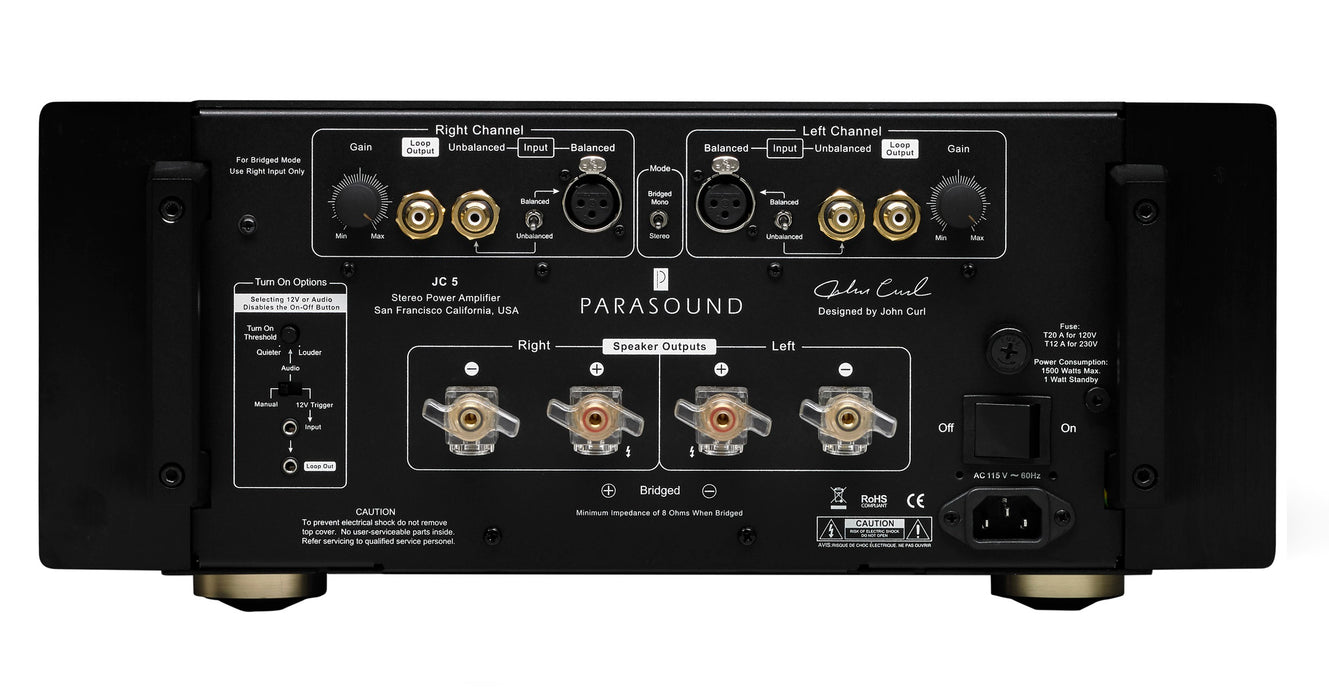 Parasound JC 5 Halo Stereo Power Amplifier - Safe and Sound HQ