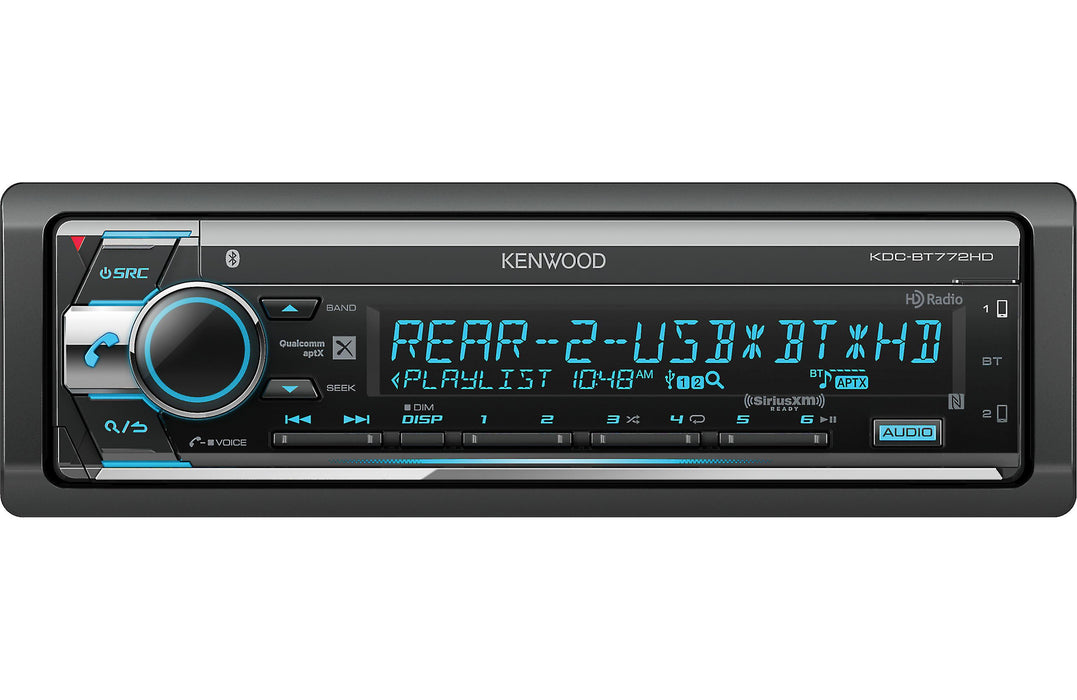 Kenwood KDC-BT772HD CD Receiver with Bluetooth - Safe and Sound HQ