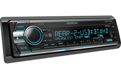 Kenwood Excelon KDC-X702 CD Receiver with Bluetooth and HD Radio - Safe and Sound HQ