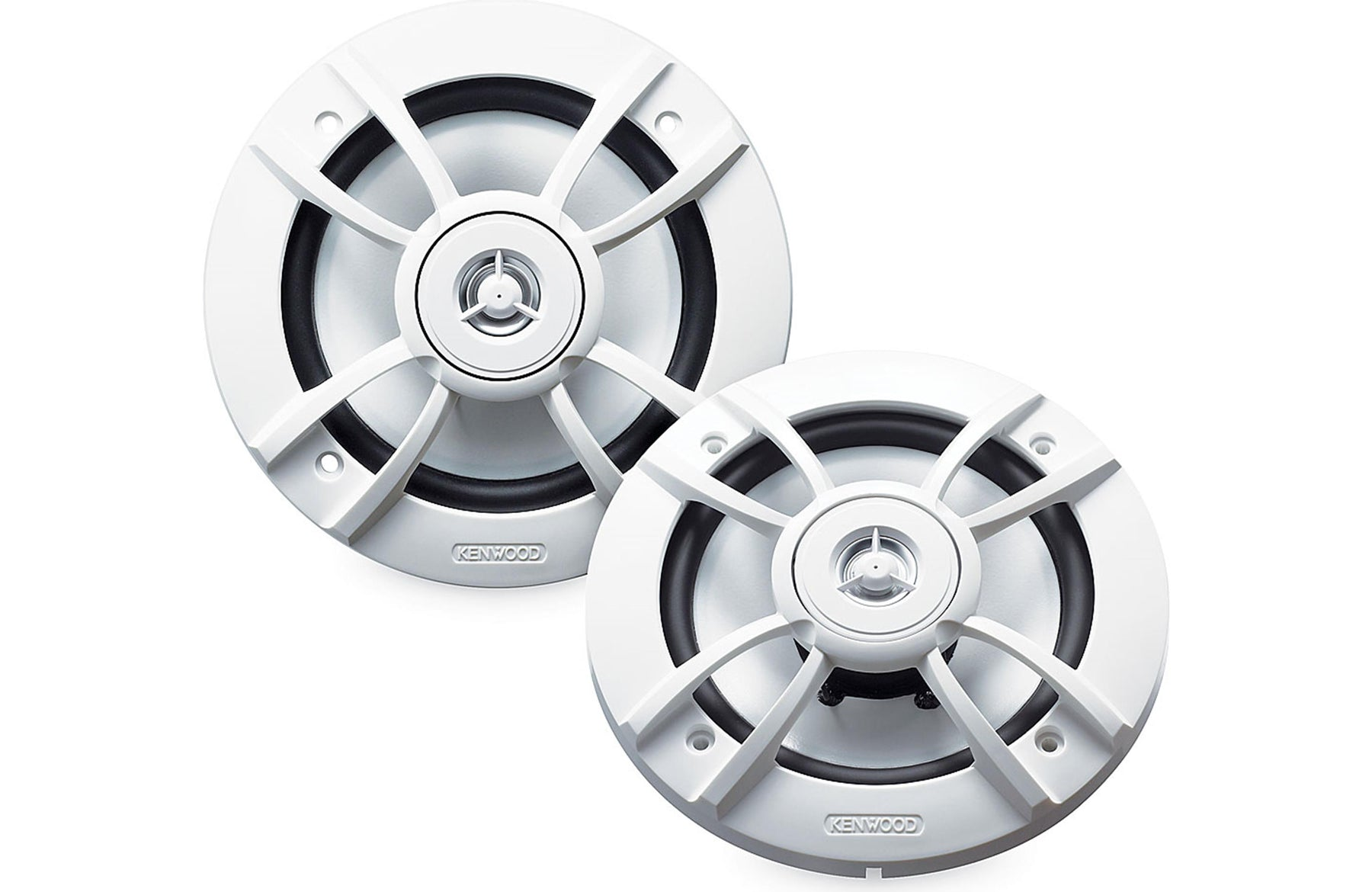 "Kenwood KFC-1633MRW 6.5"" 2-Way Marine Coaxial Speaker (Pair) - Safe and Sound HQ"
