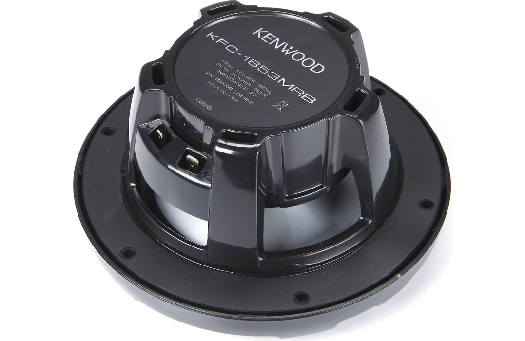 "Kenwood KFC-1653MRB 6.5"" 2-Way Black Marine Coaxial Speaker (Pair) - Safe and Sound HQ"