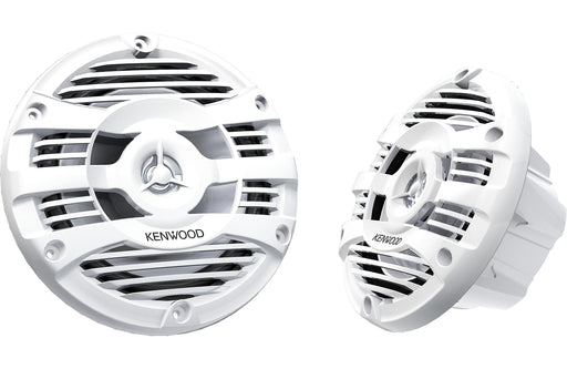 "Kenwood KFC-1653MRW 6.5"" 2-Way White Marine Coaxial Speaker (Pair) - Safe and Sound HQ"