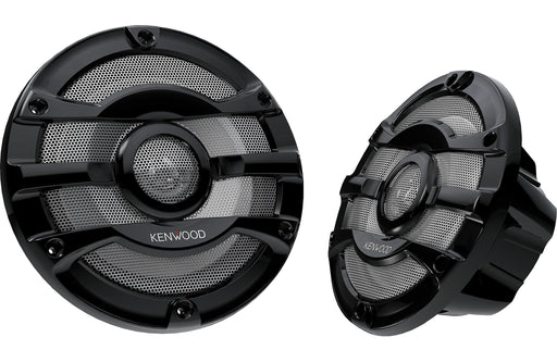 "Kenwood KFC-2053MRB 8"" 2-Way Black Marine Coaxial Speaker (Pair) - Safe and Sound HQ"