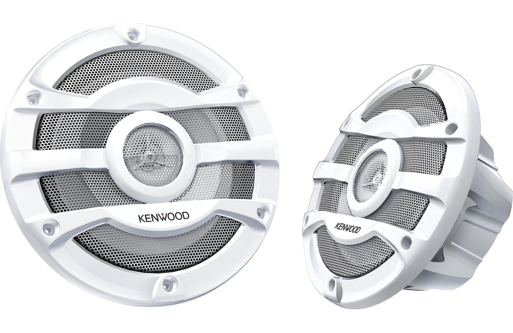 "Kenwood KFC-2053MRW 8"" 2-Way White Marine Coaxial Speaker (Pair) - Safe and Sound HQ"