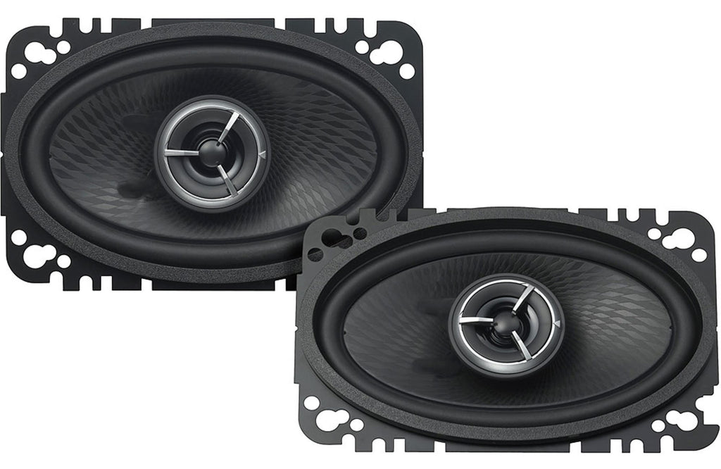 "Kenwood Excelon KFC-X463C 4"" x 6"" 2-Way Custom Fit Coaxial Speaker (Pair) - Safe and Sound HQ"