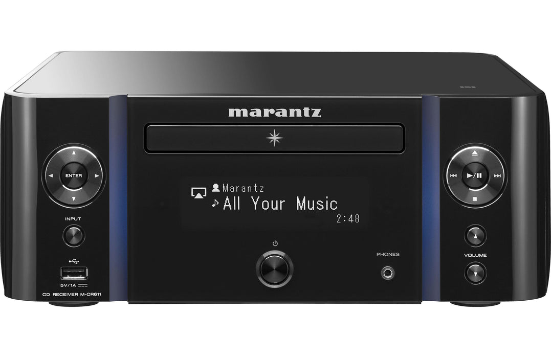 Marantz M-CR612 Network CD Receiver with HEOS, FM/AM, Bluetooth, AirPlay 2 and Voice Control - Safe and Sound HQ