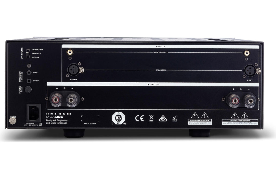 Anthem MCA 225 2 Channel Power Amplifier - Safe and Sound HQ