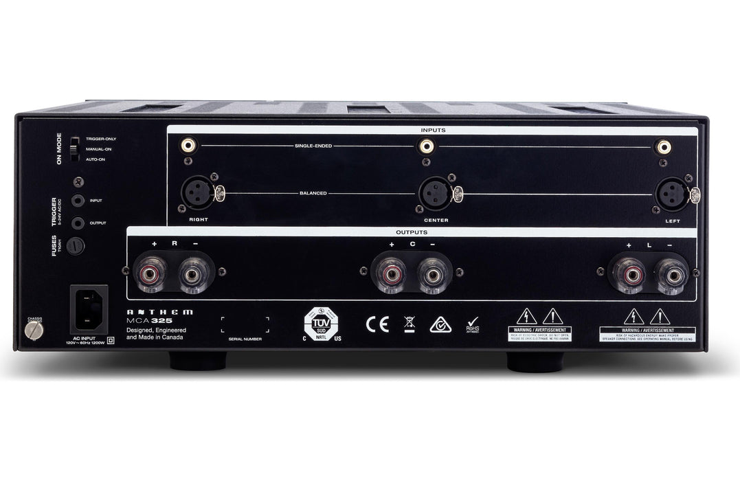 Anthem MCA 325 3 Channel Power Amplifier - Safe and Sound HQ