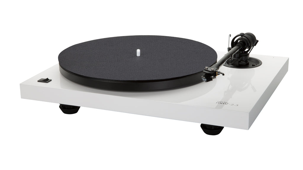 Music Hall MMF-2.3WH 2-Speed Belt-Drive with Phono Cartridge Gloss White - Safe and Sound HQ